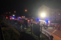 Evakuierung-Zug